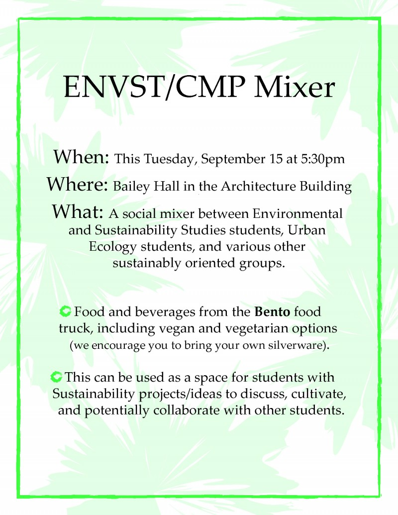 Urban ecology environmental studies social mixer