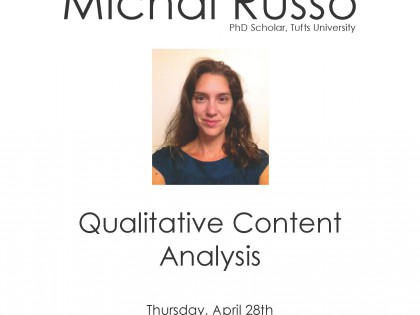 Special Guest Lecture: Michal Russo, 'Qualitative Content Analysis