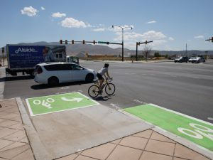 "CMP alumni talk about ""bike boxes"" in the SLC Tribune."